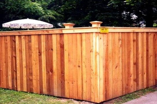 4 Foot High Wood Fencing http://greenwichgardendesigns.com/FENCINGCEDARBOARD.html